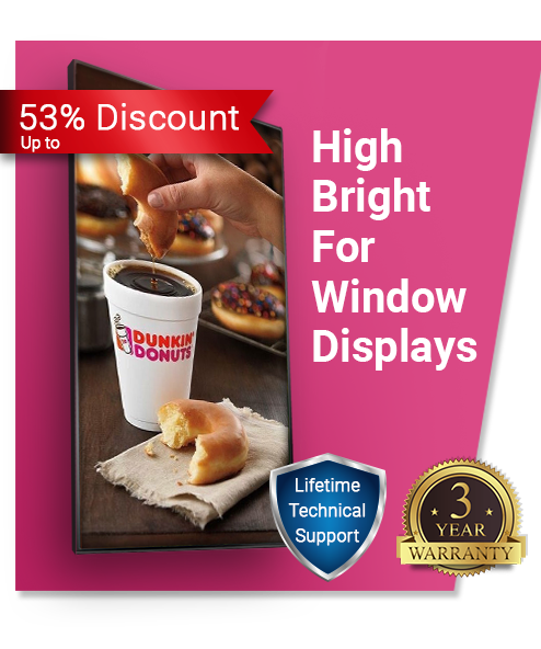 High Bright Window Menu Board