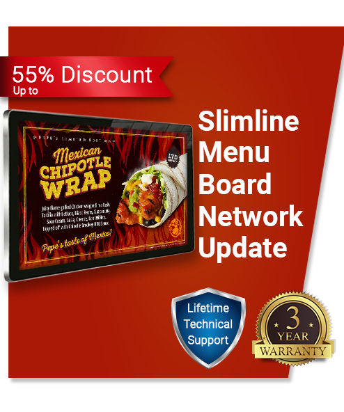 Slimlime Network Digital Menu Board
