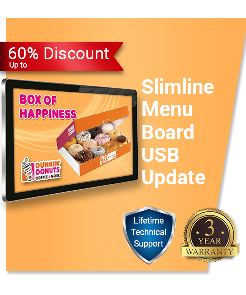 Slimlime USB Digital Menu Board