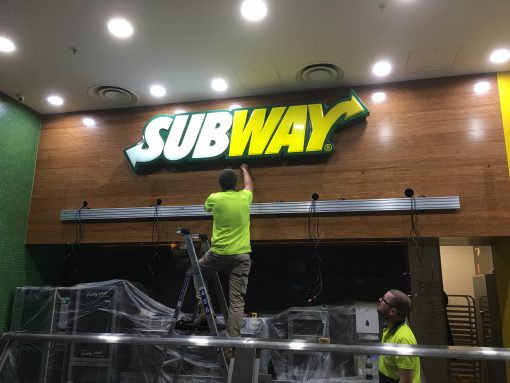 Installation of Digital Menu Boards